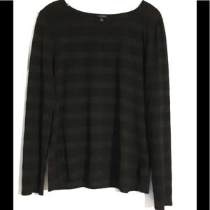 Talbots top with glittery stripes